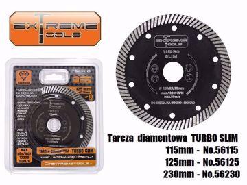Obrazek Tarcza diamentowa TURBO SLIM 125x22,2 mm beton zbrojony ceramika gres ExtremeTools 56125